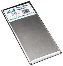 Aluminium Sheet 0,15 mm 2 sheet - 100 x 250 mm