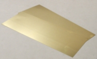 Brass Sheet, 0.12 mm , 2pcs - 100x250mm
