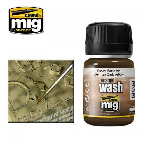 BROWN WASH FOR GERMAN DARK YELLOW