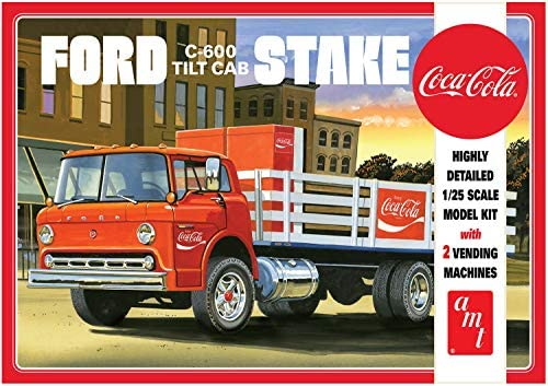 Ford C600 Stake Bed w.Coca Cola Machine 1/25