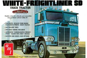 White Freightliner Single Drive Tractor 1/25