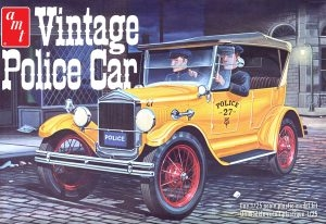 1927 FORD T VINTAGE POLICE CAR 1/25