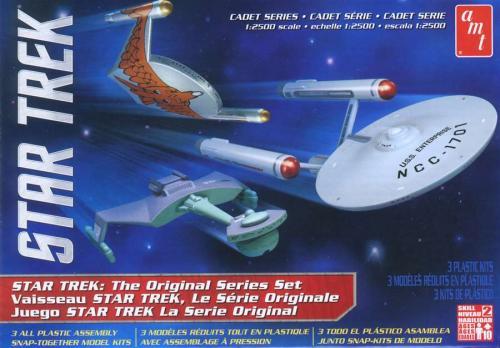Star Trek [USS Enterprise NCC1701 / Klingon D7 Battle Cruiser / Romulan Bird Of Prey] 1/2500