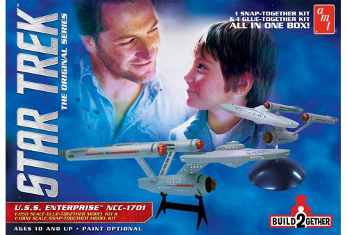 Star Trek U.S.S Enterprise Build 2 Gether (1 glue/1 snap) 1/650 & 1/1000