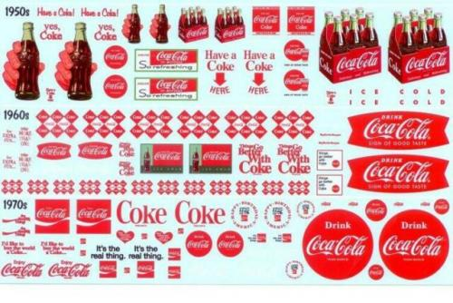 Coca Cola Decal Pack 1/25