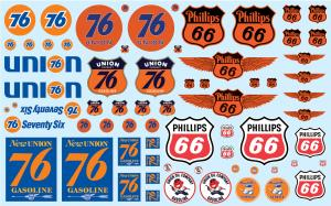 Phillips 66 + Union 76 Trucking Decals 1/25