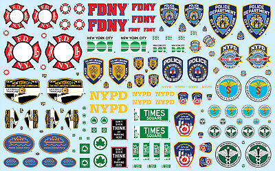 Nyc Auxiliary Service Logos Decals 1/25