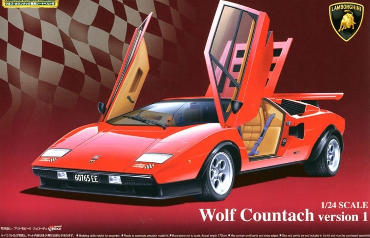 Lamborghini Wolf Countach version 1 1/24