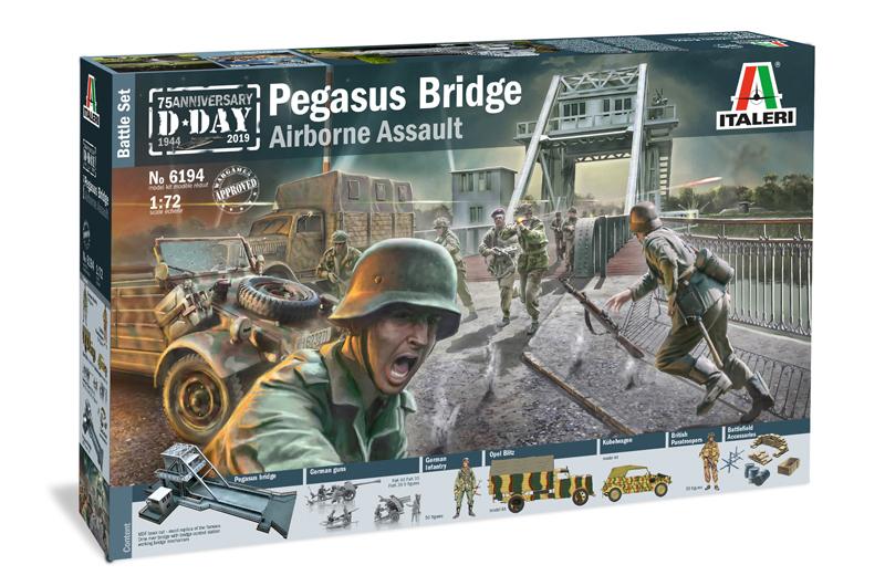 PEGASUS BRIDGE - D.Day 75°Ann.1944-2019 - BATTLE SET 1/72