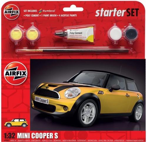 MINI Cooper S Starter Set - Yellow 1/32