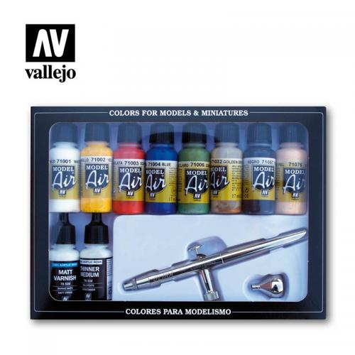 Airbrush with Basic Color set