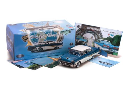 "1958 Ford Fairlane ""Around The World"" 1/18"