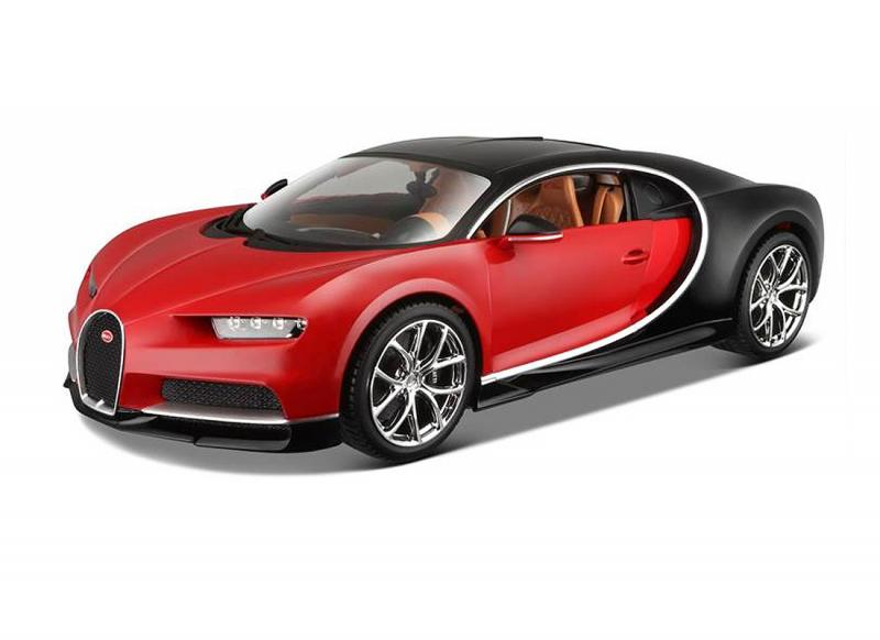 2016 Bugatti Chiron, red/black 1/18