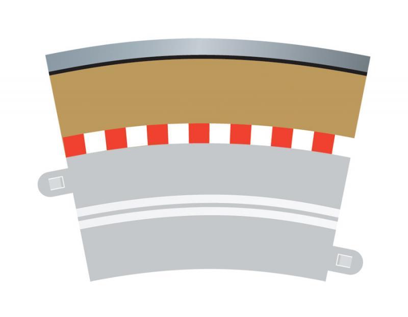 Single Lane Radius 3 Curve Outer Borders 22.5° x 4
