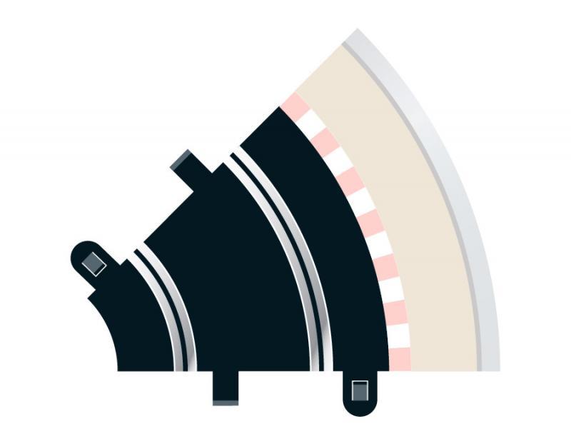 Radius 1 Curve 45° x 2