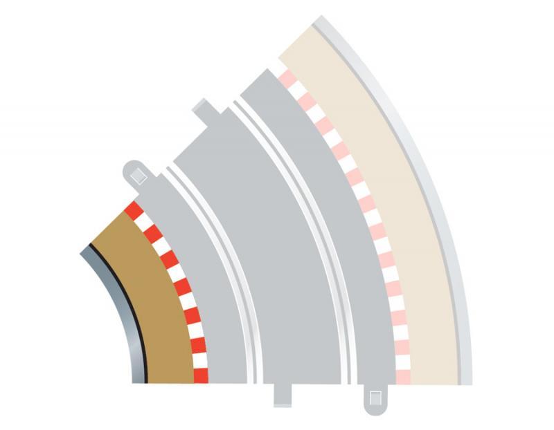 Radius 2 Curve Inner Borders 45° x 4