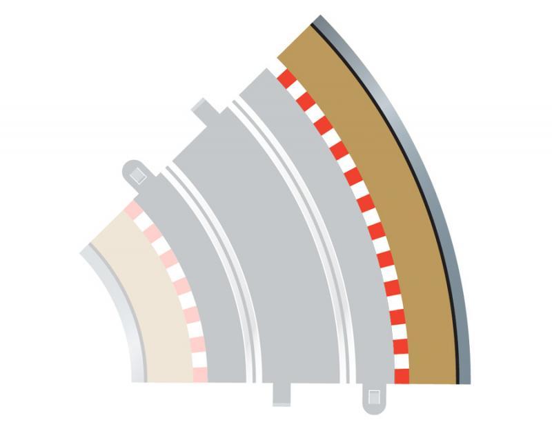 Radius 2 Curve Outer Borders 45 x 4