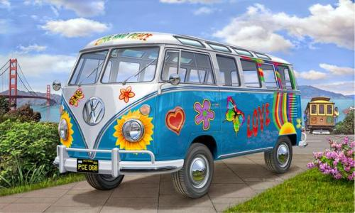 Volkswagen T1 Samba Bus Flower Power 1/24