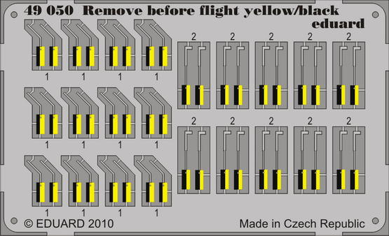 Remove Before Flight - yellow/ black 1/48