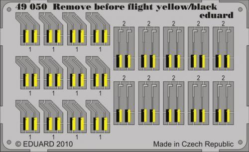 Remove Before Flight - yellow/ black 1/48