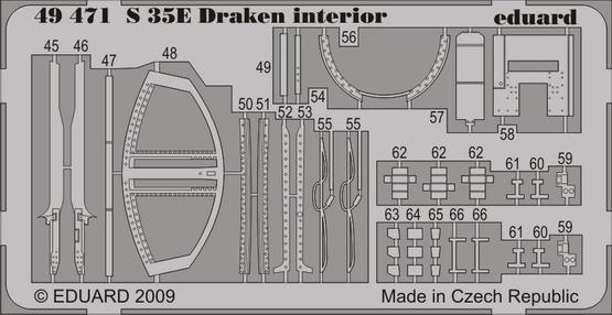 S 35E Draken interior S. A. 1/48 (Hasegawa)