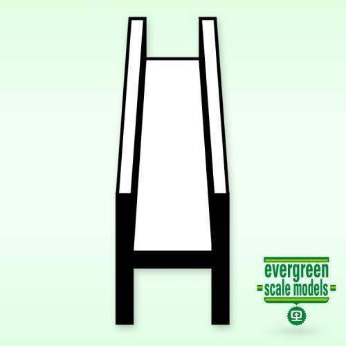 """Evergreen  H-Profil (.060"""") 1.5x350mm"""