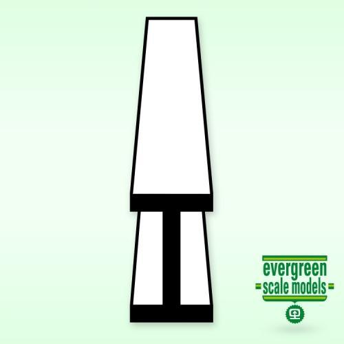 """Evergreen  I-Profil (.060"""") 1.5x350mm"""