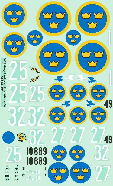 J8 (GLADIATOR), J9 (SEVESKY P35A), J11 (FIAT CR.42), J20 (RE-2000)