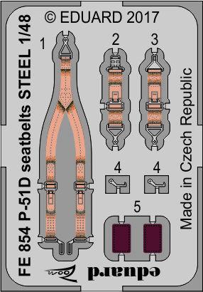 P-51D seatbelts STEEL 1/48