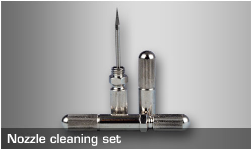 Nozzle cleaning set