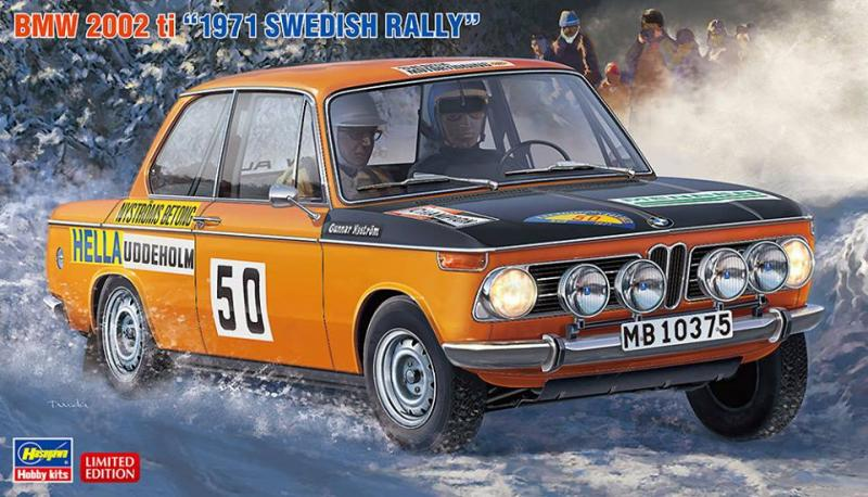 BMW 2002 ti 1971 Swedish Rally Driver Lasse Nyström 1/24