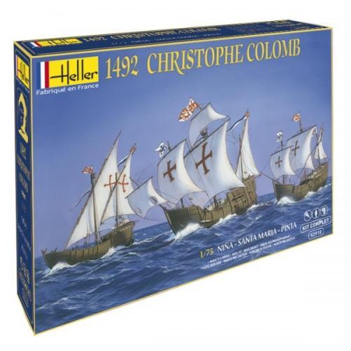 C Columbus 3 Ships Nina+St Maria+Pinta Complete w. glue, brush and paints 1/72