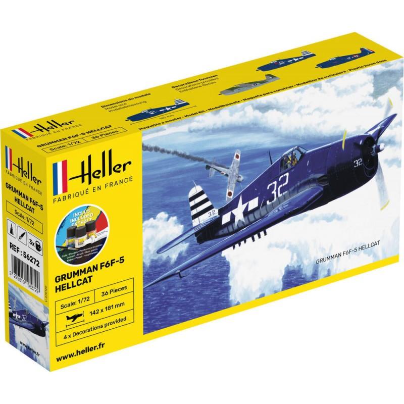 F6F Hellcat COMPLETE w. Glue, Paint,Brush 1/72