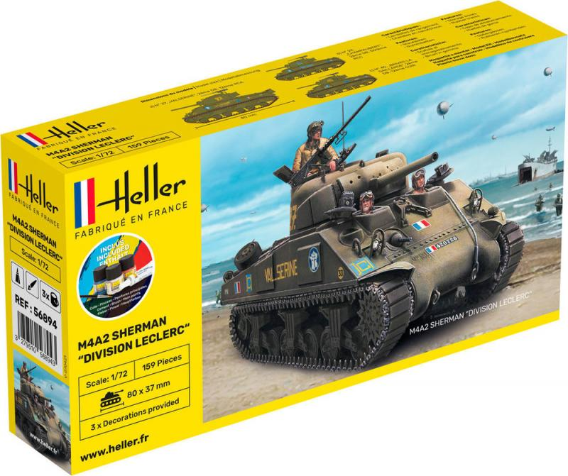 M4A2 Sherman Complete incl. glue, paints and brush 1/72