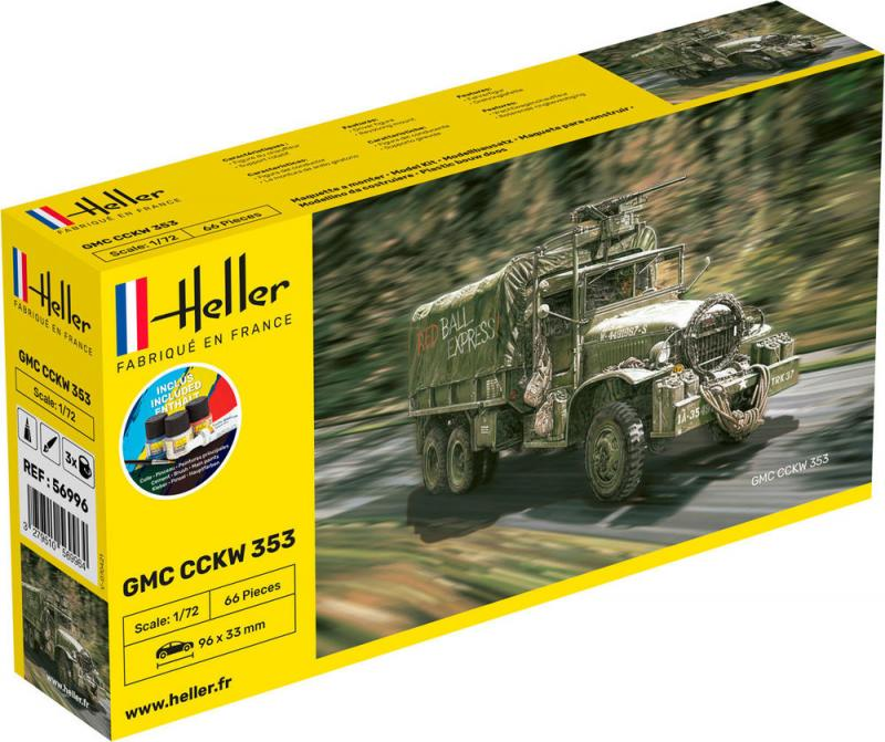 GMC CCKW 352 Complete incl. glue, paints and brush 1/72