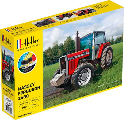 Massey-Ferguson 2680 Complete with glue, paint and brush. 1/24