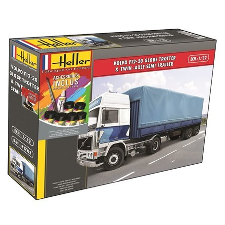 F12-20 Globetrotter & Twin-Axle Semi trailer COMPLETE incl. glue, paints and brush 1/32