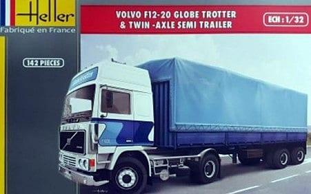 VOLVO F12-20 Globetrotter & Twin-Axle Semi trailer 1/32