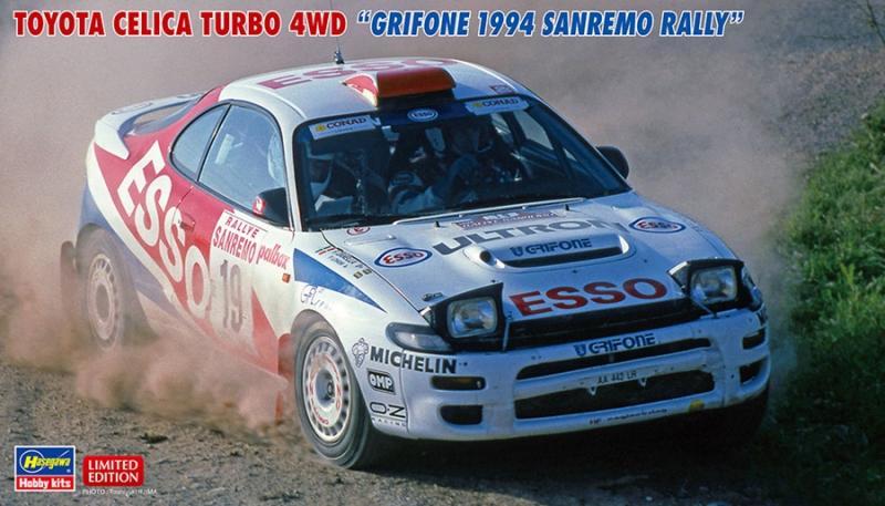 "TOYOTA CELICA TURBO 4WD ""GRIFONE 1994 SANREMO RALLY"" 1/24"