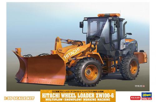 Hitachi Wheel Loader ZW100-6 Multiplow (Snowplow) Working Machine 1/35