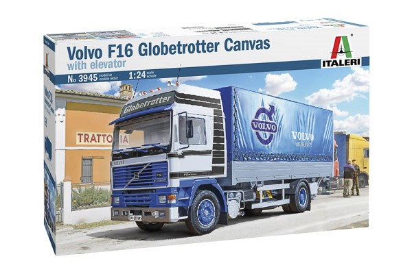 Volvo F16 Globetrotter Canvas with elevator 1/24