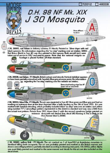 J 30 Mosquito Mk. XIX 1/48
