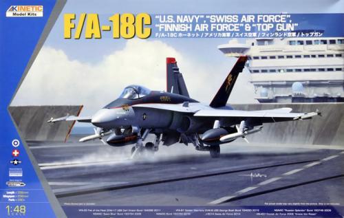 F/A-18C US Navy, Swiss Air Force, Finnish Air Force & Topgun 1/48