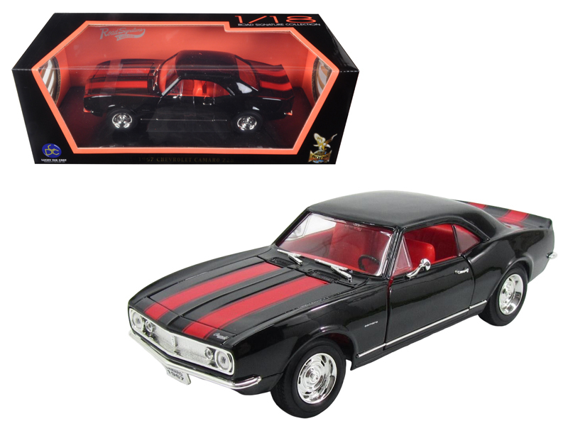 1967 Chevrolet Camaro Z28, black/red stripes 1/18