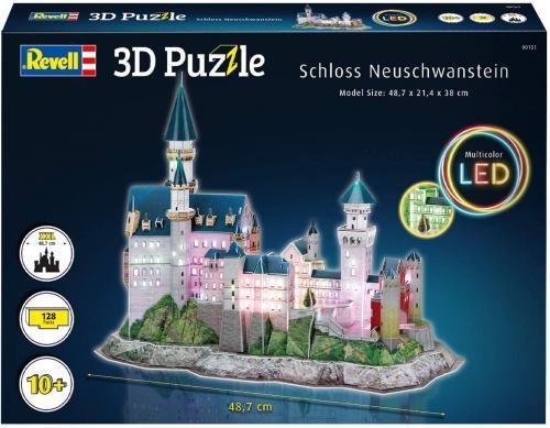 3D Pussel Neuschwanstein Castle - LED edition.