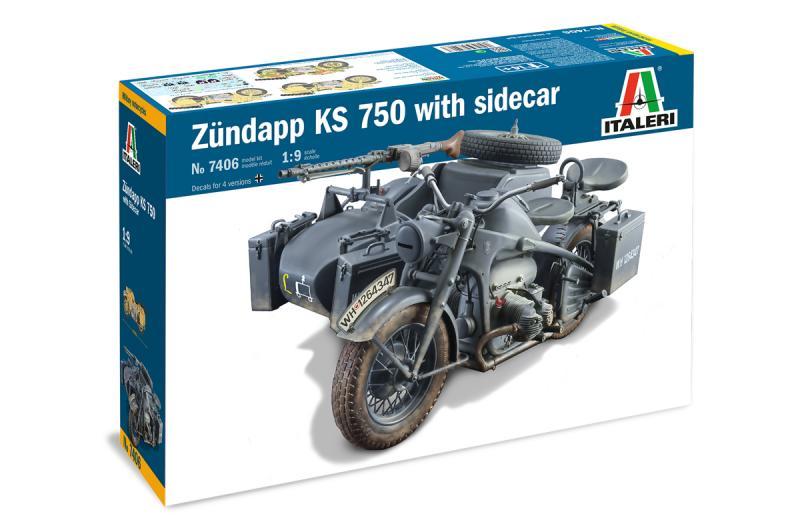 ZUNDAPP KS 750 WITH SIDECAR 1/9