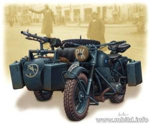 German Motorcycle & Sidecar WWII 1/35