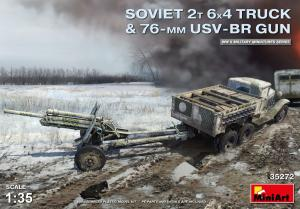 Soviet 2 t 6x4 Truck with 76mm USV-BR Gun 1/35