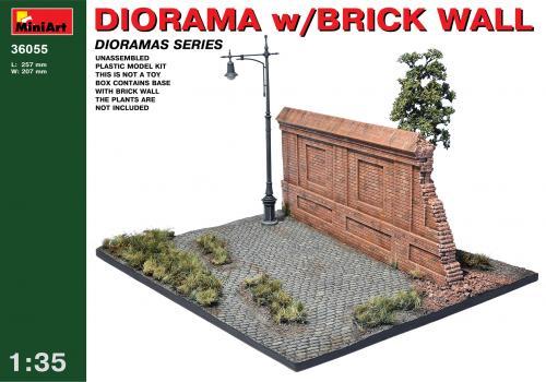 DIORAMA w/BRICK WALL 1/35