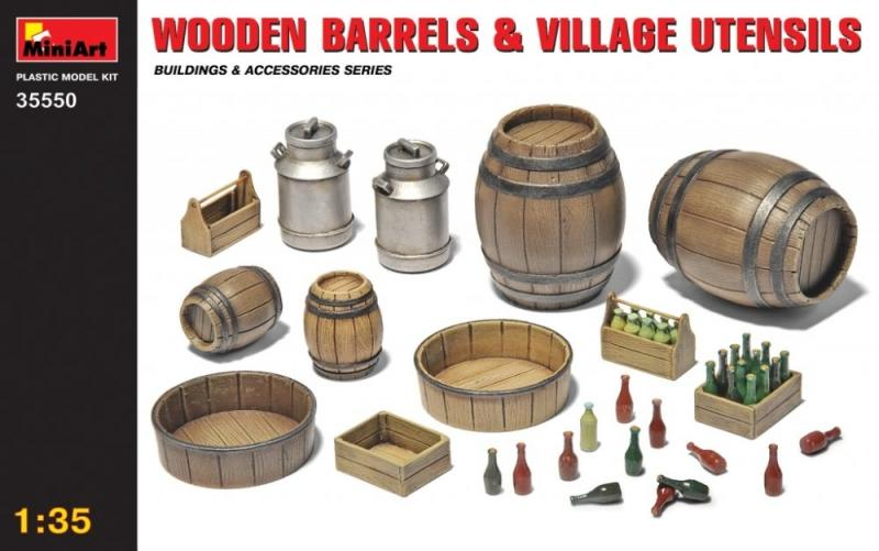 Wooden Barrels & Village Utensils 1/35